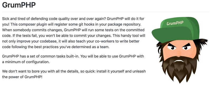 """使用GrumPHP来纠正代码""""毛病"""""""
